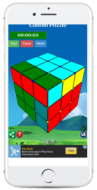 Cubo Rubix Puzzle App for iPhone and Android